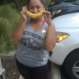 20170923-Adriana did her 1st ever 10 miler as part of DRG last year and she finally got her Big Deal Banana