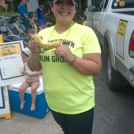 20171007-Maria D and her Big Deal Banana after doing the BIG DEAL of running her 1st ever 10 miler today - Congrats