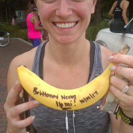 20171014-Brittaney N with her BIG DEAL Banana on her first day to run with DRG