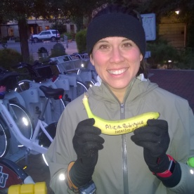20171028-Alicia R with her Big Deal Banana after completing her 1st ever 20 miler on Oct 21