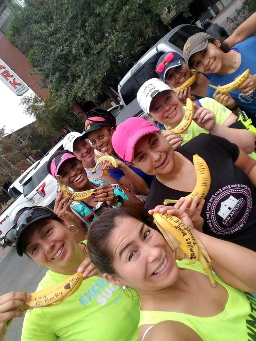 20171104-The worlds largest BIG DEAL BANANA RUN selfie celebration after these phenomenal ladies completed their 1st 20+ miler of each of their lives